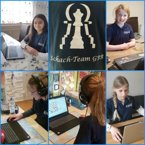 JKG-Mädchenteam bei der Deutschen Online-Schulschach-Meisterschaft 2021