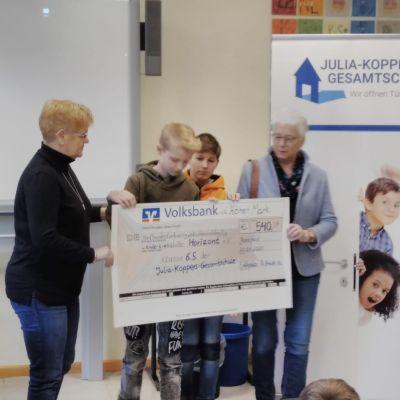 Klasse 6.5 aktiv für die Kinderkrebshilfe Weseke