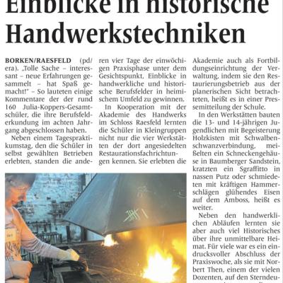 Artikel der Borkener Zeitung